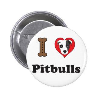 I Love Pitbulls Button