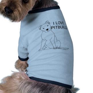 I Love Pitbulls Doggie T Shirt