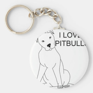 I Love Pitbulls Key Ring