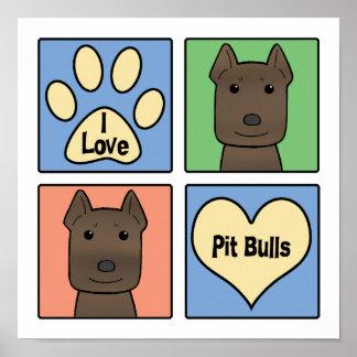 I Love Pitbulls Poster