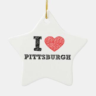 I-Love-Pittsburgh Christmas Ornament