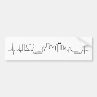I love Pittsburgh in an extraordinary ecg style Bumper Sticker
