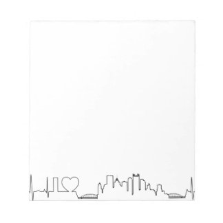 I love Pittsburgh in an extraordinary ecg style Notepad