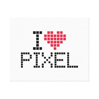 I love pixel gallery wrap canvas
