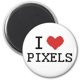 I Love Pixels / I Heart Pixels Refrigerator Magnet