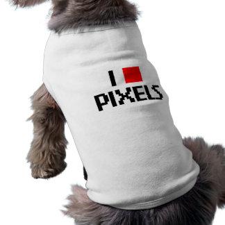 I Love Pixels Sleeveless Dog Shirt