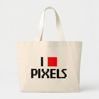 I Love Pixels Jumbo Tote Bag