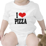 I Love Pizza Baby Bodysuits
