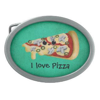 I love Pizza Belt Buckle