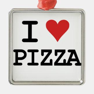 I love Pizza Christmas Ornament