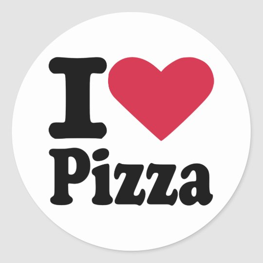 I love pizza classic round sticker