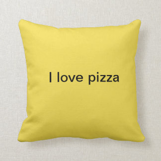 i love pizza cushion