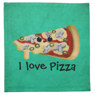 I love Pizza Napkin