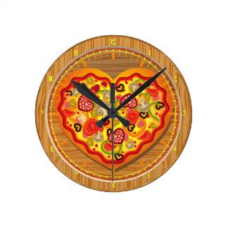 I love Pizza  Pizza Fast Food Wall Clock