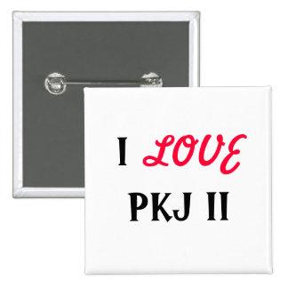 I, LOVE, PKJ II PINBACK BUTTONS