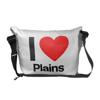i love plains courier bag