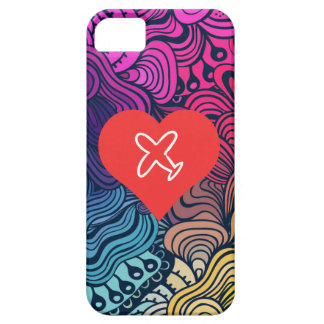 I Love Plane Drawings iPhone 5 Case