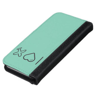 I Love Plane Drawings iPhone 6 Wallet Case