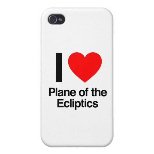 i love plane of the ecliptics iPhone 4 cover