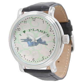 I Love Planes - Atlas Aircraft minute marks Watch