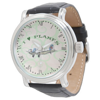 I Love Planes - Dakota DC3 - with Roman dial Watch