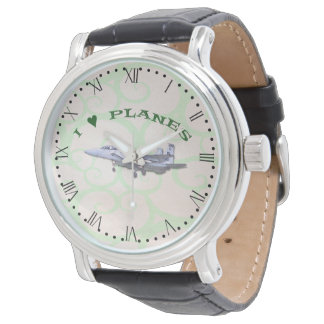 I Love Planes - F15D Eagle - with Roman dial Watch