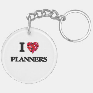 I love Planners Double-Sided Round Acrylic Key Ring