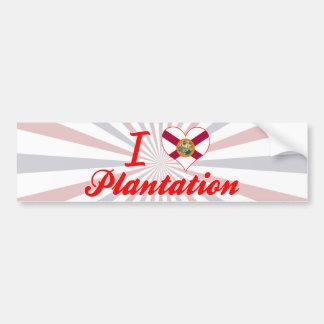 I Love Plantation, Florida Bumper Stickers