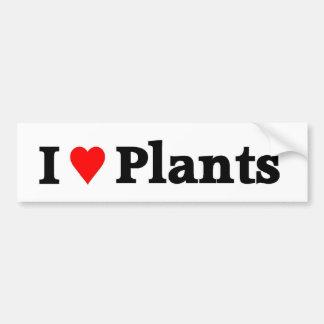 I love Plants Car Bumper Sticker