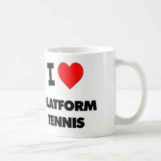 I Love Platform Tennis Coffee Mugs