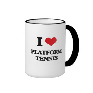 I Love Platform Tennis Coffee Mug