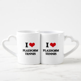 I Love Platform Tennis Lovers Mug Set