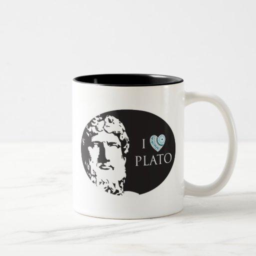 I Love Plato Mug