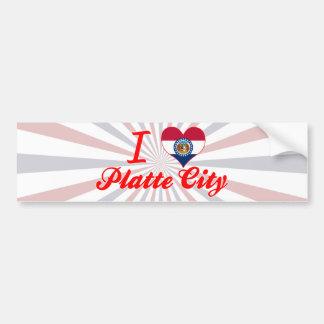 I Love Platte City, Missouri Car Bumper Sticker
