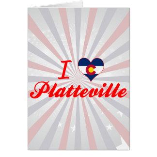 I Love Platteville, Colorado Greeting Cards