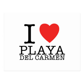 I love Playa del Carmen Card Post