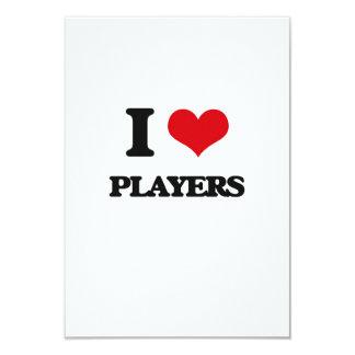 "I Love Players 3.5"" X 5"" Invitation Card"