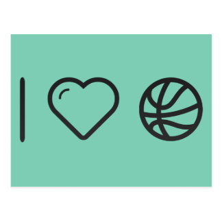 I Love Playing Basketball Postcard