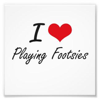 I Love Playing Footsies Photograph