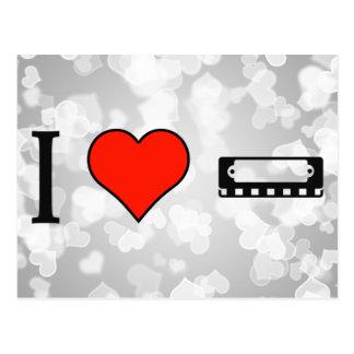 I Love Playing Harmonic Instruments Postcard