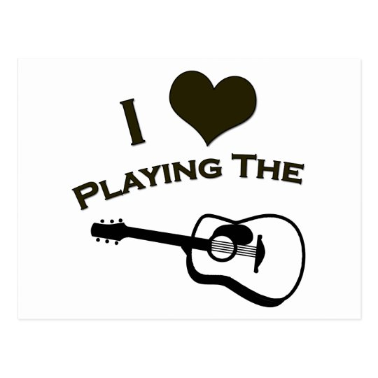 I Love Playing the Guitar Postcard