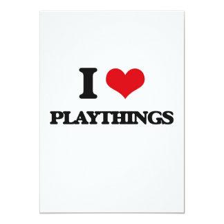 "I Love Playthings 5"" X 7"" Invitation Card"