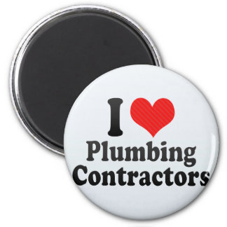 I Love Plumbing Contractors Refrigerator Magnets