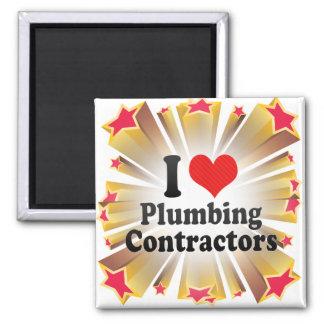I Love Plumbing Contractors Magnet