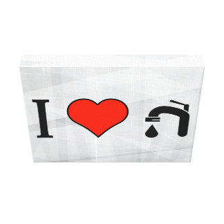 I Love Plumbing Tools Gallery Wrapped Canvas
