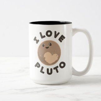 I Love Pluto Two-Tone Coffee Mug
