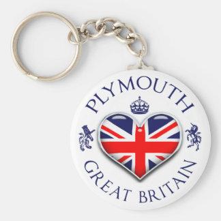 I Love Plymouth Key Ring
