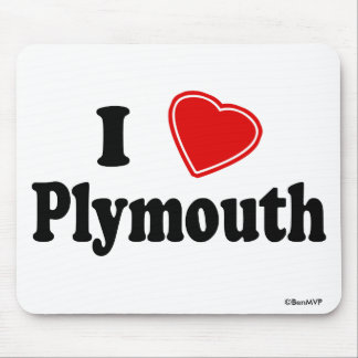 I Love Plymouth Mouse Pad