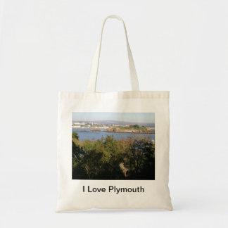 I Love Plymouth Tote Bag