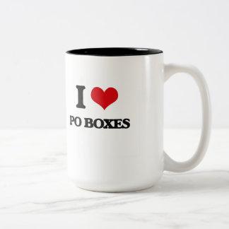 I Love Po Boxes Two-Tone Mug